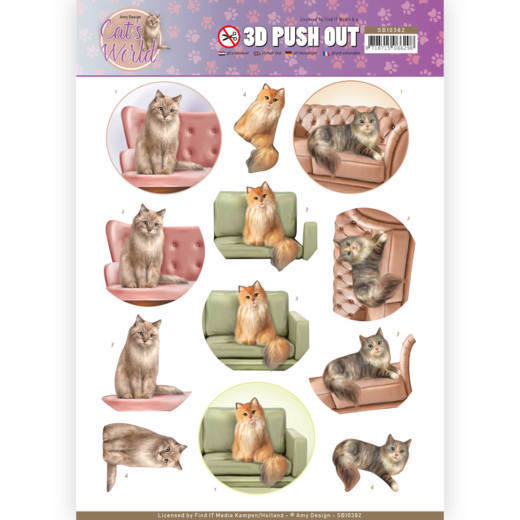 3D Pushout - Amy Design - Cats World - Show Cats - SB10382