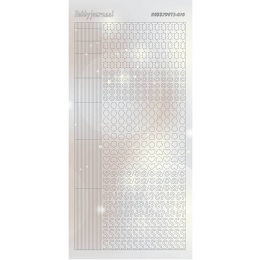 Hobbydots Sticker - Pearl  - 10 Silver - STDP102