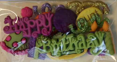 Buttons - Dress It Up - Happy Birthday - 2168