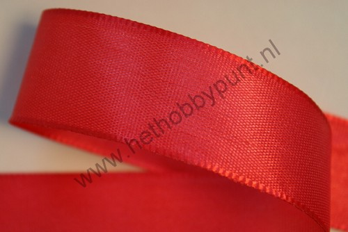 Lint - 25 mm breed - Effen rood