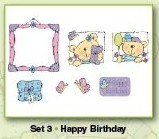 Stampies Clearstampies - Happy Birthday - Set 3 - CardDeco - ST10003