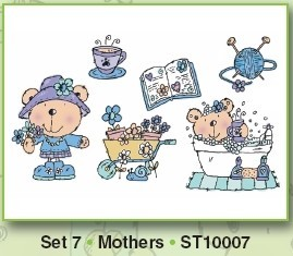 Stampies Clearstampies - Mothers - Set 7 - CardDeco - ST10007