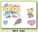 Stampies Clearstampies - Love - Set 2 - CardDeco - ST10002