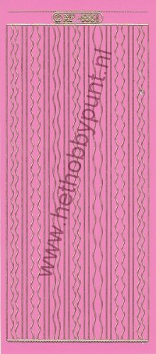 Stickervel - Randjes - Roze-Goud - XP6561