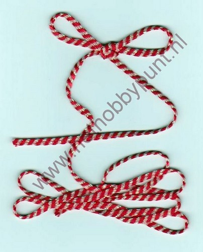 Lint - 3 mm - Rood-Zilver