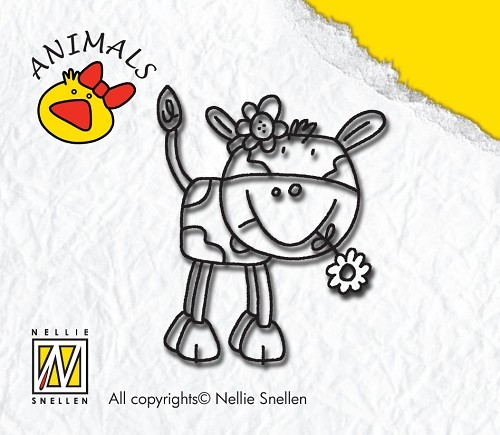 Clear Stamp Animals - Cow-Girl - Nellie Snellen - ANI003