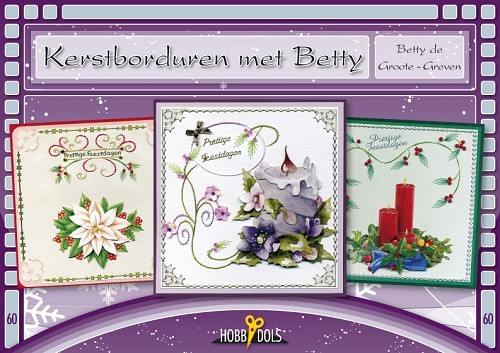 Hobbydols 60 - Betty de Groote - Greven- Kerstborduren met Betty