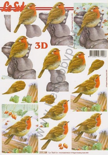 3D Knipvel - Le Suh - Vogels in de Winter