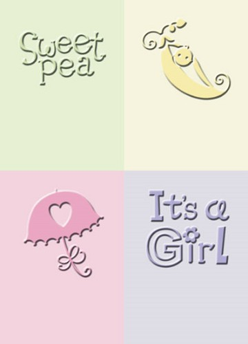 Cuttlebug Embossing Stencil - It`s a Girl - Provo Craft - 37-1248
