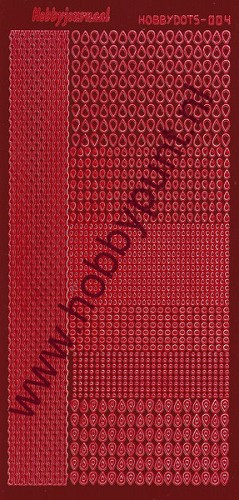 Hobbydots - Stickervel - Mirror Red - Serie 4 (stdm044)