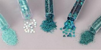 Glitters - Hobby & Crafting Fun - Turquoise gemengd - 12086-8604