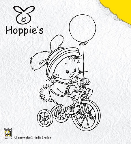 Clear Stamp Hoppie 3 Biking - Nellie Snellen - HOP003