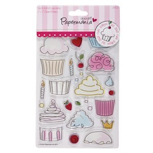Clear Stamp - Little Cake Shoppe - Mix Cupcakes - PMA907200