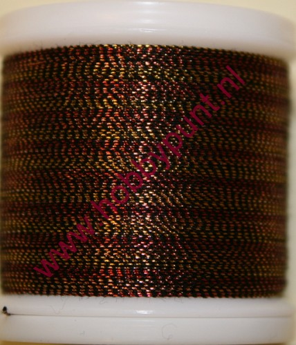 Madeira Metallic 40 - Tiger Eye - 200 meter - Kleur: 9842-482