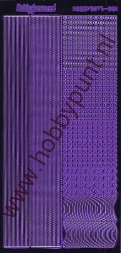 Hobbydots - Stickervel - Mirror Purple - Serie 1 (stdm019)