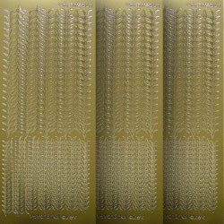 Stickervel - V-Stitch M - Goud - Le Crea Design - 61.3577