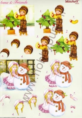 Push Out - Mitchell - 3D Anna & Friends - Kerst - 949025