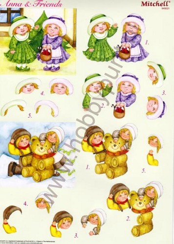 Push Out - Mitchell - 3D Anna & Friends - Kerst - 949021