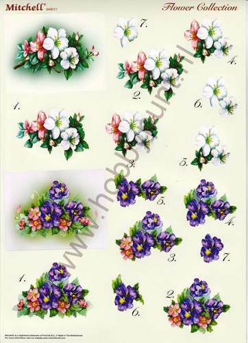 Push Out - Mitchell - 3D Flower Collection - 949017