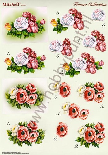 Push Out - Mitchell - 3D Flower Collection - 949012