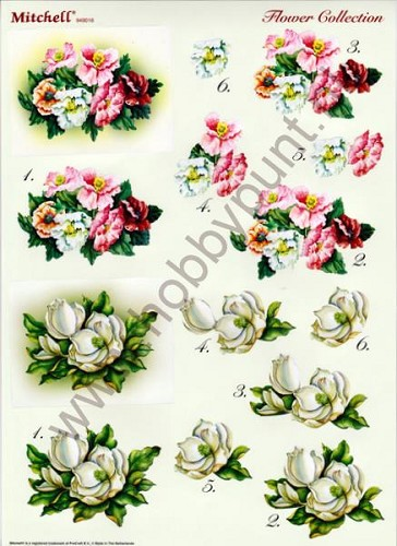 Push Out - Mitchell - 3D Flower Collection - 949016