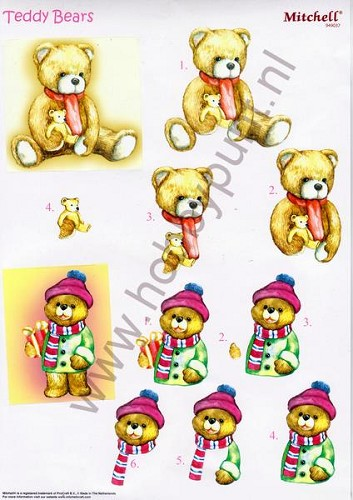 Push Out - Mitchell - 3D Teddy Bears - 949037