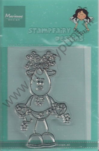 Clear Stamp - Stampfairy - Fairy Reindeer - Marianne Design - SF1106