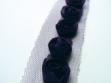 Flower Ribbons / Linten - Dark Purple - Marianne Design - FR1119