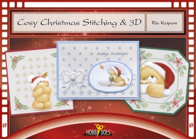 Hobbydols 69 - Rie Kuipers - Cosy Christmas Stitching & 3D