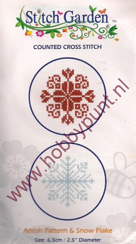 Counted Cross Stitch - Amish Pattern & Snow Flake - 07.010.18