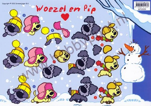 3D Knipvel - Woezel en Pip - Winter - WP10009