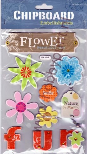 Embellishments - Chipboard - Flower - CB-1001B