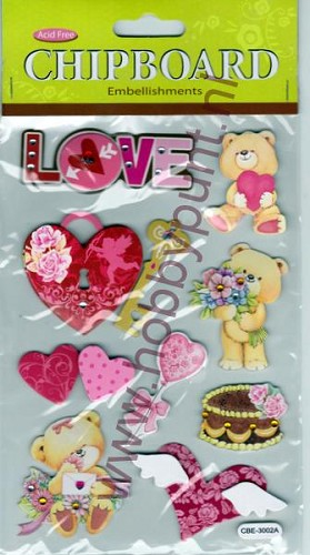 Embellishments - Chipboard - Love - CBE-3002A