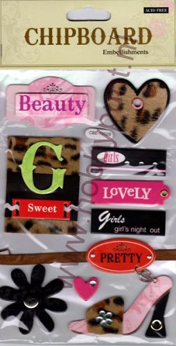 Embellishments - Chipboard - Girl`s - CBE-1002B