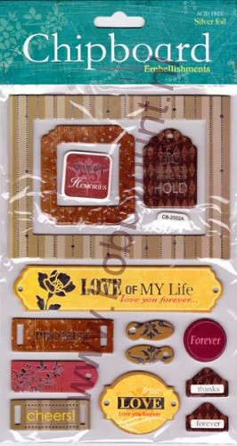 Embellishments - Chipboard - Love - CB-2002A