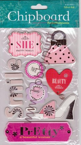 Embellishments - Chipboard - Beauty - CB-2003B