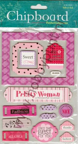 Embellishments - Chipboard - Pretty Woman - CB-2003A