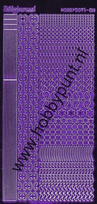Hobbydots - Stickervel - Mirror Purple - Serie 11 (stdm119)