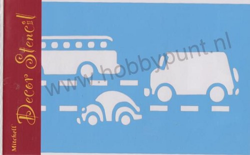 Decor Stencil - Mitchell - Auto`s - 311017