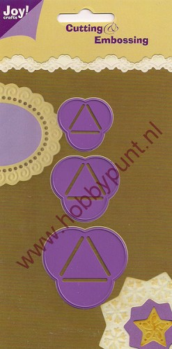 Snij en Embos mal - Paperbol Driehoek - Joy Crafts - 6002/0105