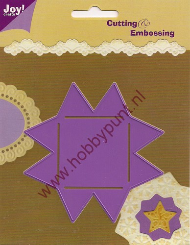 Snijmal en Embosmal - Paperbol Ster Groot - Joy Crafts - 6002/0111