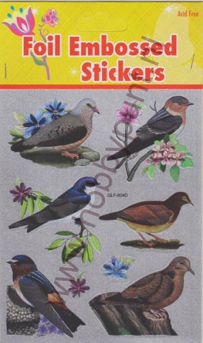Stickers - Foil Embossed - Vogels - GLF-604D