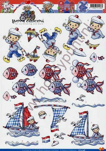 3D Knipvel - Yvonne Creations - Holland - Carddeco - CD10198