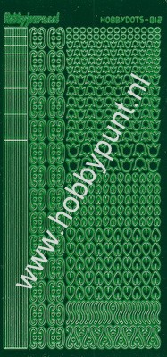 Hobbydots - Stickervel - Mirror Green - Serie 12 (stdm122)