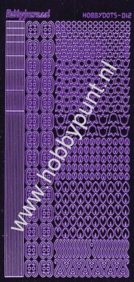 Hobbydots - Stickervel - Mirror Purple - Serie 12 (stdm129)