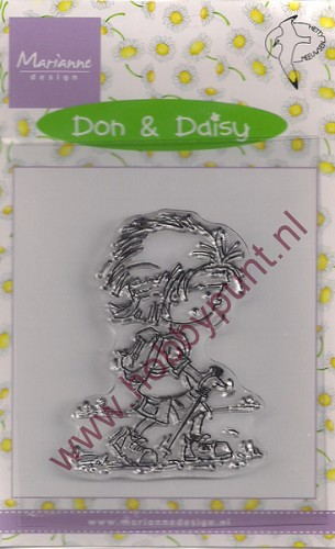 Clear Stamp Don & Daisy - Marianne Design - Hetty Meeuwsen - DDS3319