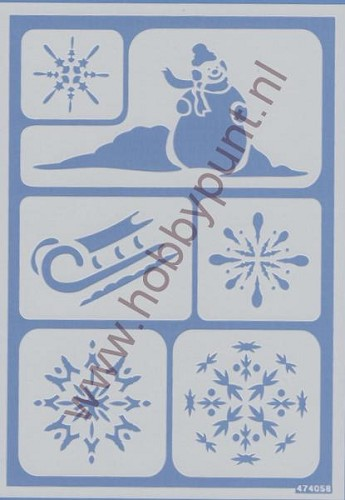 Flex Stencils - Mitchell - Winter - 474058