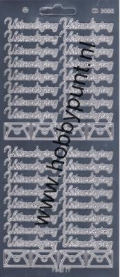 Platinum Stickervel - Zilver - Tekst Uitnodiging - Carddeco - CD3006