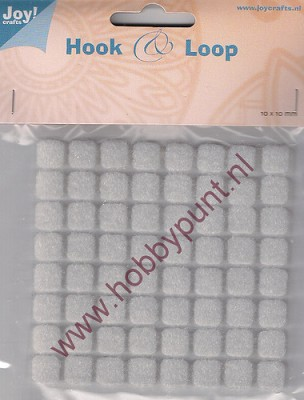 Hook & Loop - Klitteband Vierkantjes 10 mm - Joy - 6500/0082