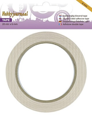 Hobbyjournaal Dubbelzijdig Tape - 6 mm breed (HJ-Tape-6mm)